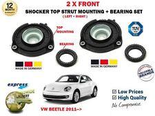 FOR VW VOLKSWAGEN BEETLE 2011--> 2X FRONT SHOCKER TOP STRUT MOUNTINGS + BEARINGS