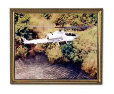 USMC Marine Cobra Helicopter Wall Picture Gold Framed Art Print