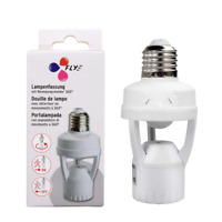 Toplimit Motion Sensor Light Socket,PIR Motion Detector Screw Bulb Adapter,Auto