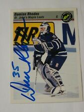 Damian Rhodes Toronto Maple Leafs autographed card