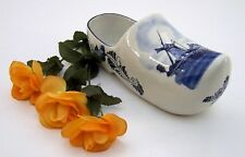 Keramik Blue Holland Pantoffel Schuh Windmühle handbemalt