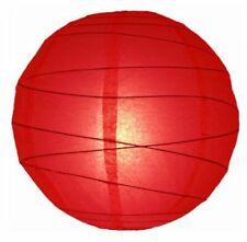 "8"" Red Free-Style Ribbed Paper Lantern (Set of 3) by WeGlow International"
