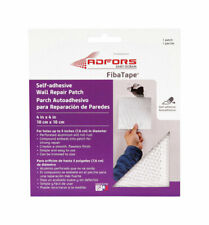 FibaTape 4in L x 4in W Fiberglass Mesh White Self Adhesive Wall Repair Patch