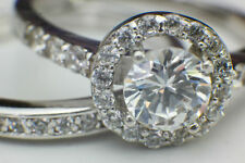 Cushion Halo Sterling Silver Fine Diamond Rings