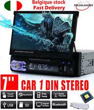 7'' Bluetooth 1 DIN Auto Radio Stereo MP5 MP3 USB/FM/AUX Scomparsa Touch Screen