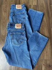 Levis Strauss Men 505 Jeans Regular Fit Preowned Lot Of 2 W34XL30