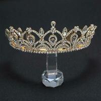 STUNNING BRAND NEW GOLD CROWN/TIARA WITH CLEAR CRYSTALS, BRIDAL OR RACING