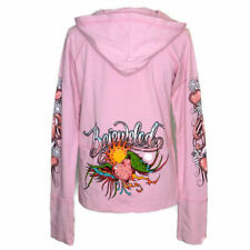 NWT Bejeweled by Susan Fixel Pink Hooded Jacket XL Crystal Studded Winged Heart