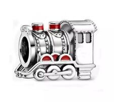 🇬🇧💜💜925 STERLING SILVER HOGWARTS EXPRESS TRAIN HARRY POTTER CHARM & POUCH