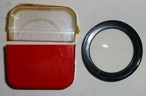 Zeiss Ikon Voigtlander Bay 50  Close Up +1 Filter  MADE IN West Germany Used