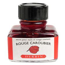 Herbin Fountain Pen Ink - 30ml Bottled - Rouge Caroubier