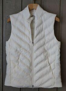 SMALL Women's Nike AeroLoft Vest Gilet Lightweight Off-White Ivory