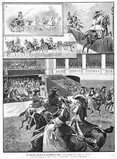 Sisi, Sissi, Kaiserin, Hofreitschule Wien, Reiterfest, Original-Holzstich 1894