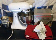 KitchenAid Stand Tilt Mixer K45 Hobart White with Slicer and Shredder & Bowl