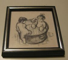 Vintage1970 Litho Ira Roberts Publishing Two In A Tub 6x6