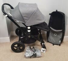 Bugaboo Cameleon 3 Grey Melange Black Leather Chassis Pram Pushchair Stroller