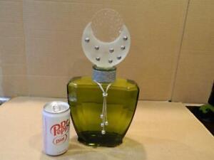 """Ex Large Factice Display Glass Perfume Bottle Cher Uninhibited """"VB"""" Mark Bottle"""