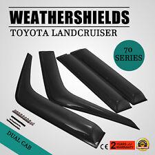 Weathershields For Toyota Landcruiser 70 76 78 79 Series Window Visors Protector
