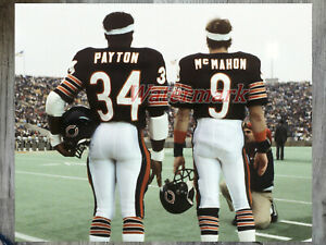 NFL Chicago Bears Walter Payton Jim McMahon on the Sidelines Color 8 X 10 Photo