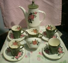 More details for  coffee set 11 piece chintzy floral  vintage/retro afternoon tea vgc
