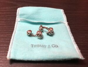 Tiffany & Co. 925 Sterling Silver Knotted Cuff Links