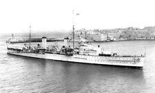 ROYAL NAVY ARETHUSA CLASS CRUISER HMS PENELOPE ENTERING GRAND HARBOUR MALTA