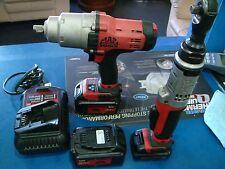 "Mac Tools BWP050 20V 1/2"" Drive Cordless Impact BRS038 3/8"" Cordless Ratchet 12v"