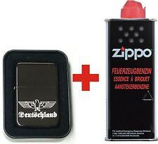 Deutschland Reichsadler EDEL Benzin Feuerzeug blackice midnight + 1Zippo Benzin