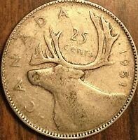 1951 CANADA SILVER 25 CENTS