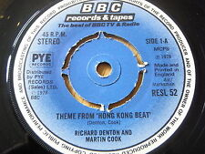 "RICHARD DENTON & MARTIN COOK - THEME FROM ""HONG KONG BEAT""  7"" VINYL"