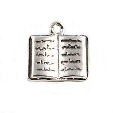 Open Book 3D 925 Sterling Silver Charm - Reading Diary Library