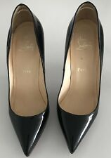 Christian Louboutin Black Patent Red Sole Pump Sz 38.5