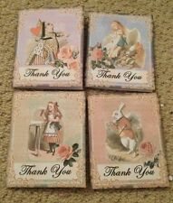 8 Alice In Wonderland Mini Tags/cards Birthday/wedding Party Gift Decorations