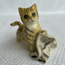 """New ListingVintage Royal Doulton Striped Cat/Kitten with Newspaper - """"In The News"""""""