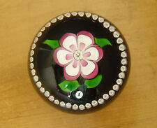 """Ltd Ed Caithness """"Whitefriars Rosette"""" Paperweight Monk Cane (142/500) - >2 3/4"""""""