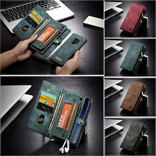 CaseMe Echt Leder Wallet Case Handy Tasche Etui für iPhone XS Max Samsung Huawei