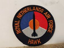 Royal Netherlands Air Force Patch Hawk Missile 4 x 4 inches