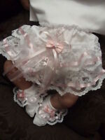 DREAM BABY HEARTS KNICKERS AND SOCKS SET ALL SIZES  AVAILABLE OR REBORN