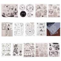 Christmas Transparent Silicone Clear Stamp Cling Diary Scrapbooking Craft TOP