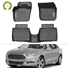 For 2013-2016 Ford Fusion Liners All Weather Front & Rear Floor Mats BLACK TPO