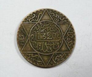 Morocco Silver 2 & ½ Dirhems 1902 Original Toning VERY SCARCE