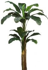 7 foot Artificial Double Trunk Banana Palm Tree Plant Arrangement 8 6 5 4 no pot
