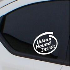 2x Ibizan Hound stickers Inside car decal