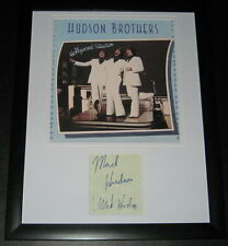 The Hudson Brothers Group Signed Framed 11x14 Photo Display
