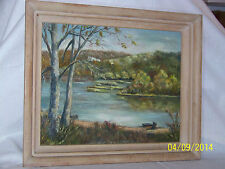 Potomac Harpers Ferry Original Oil On Panel Landscape Gallery Painting Signed