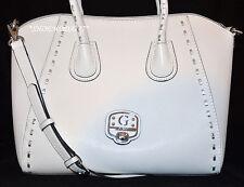 GUESS Garland Satchel Shoulder Bag Purse Handbag Tote Cognac Black