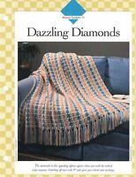Dazzling Diamonds Afghan to Crochet Single Pattern Vanna White