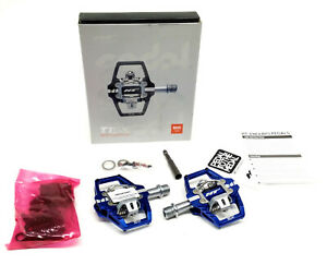 HT Components T1-SX Bicycle Pedals Blue with Cleats