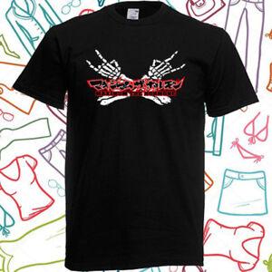 Maximum the Hormone Logo Men's Black T-Shirt Size S to 3XL