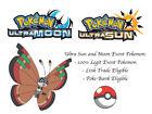 Pokemon Ultra Sun and Moon Region Specific Colorful Vivillon Archipelago Pattern